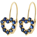 Rosie Sapphire Heart Earrings
