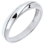 present Saturn Trilogy Wedding Ring - White gold - 9 carat