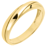gift woman Saturn Trilogy Wedding Ring - Yellow gold - 9 carat
