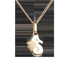 Schattig zeepaardje - klein model - 18 karaat geelgoud