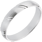 Sealed White Gold Wedding Ring