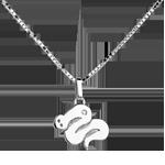 Serpentello - modello grande - Oro bianco - 18 carati - Diamante
