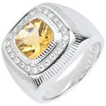 weddings Solar Eye Ring - Silver, diamonds and fine stones