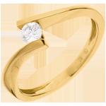 verkoop online Solitair Nid Précieux - Apostrophe - Geel Goud - 0.2 karaat Diamant - 18 karaat