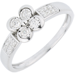gifts Solitair Ring Freshness - Clover of the Lovers - 4 diamonds