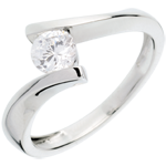 mariage Solitaire apostrophe or blanc (TGM+) - 0.52 carats
