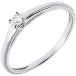 Solitaire Classic white gold