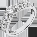 Solitaire Destinée - Tsarine - or blanc 18 carats - diamant 0.28 carat