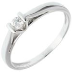 Solitaire elegance ring white gold