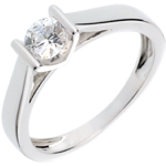 Solitaire elegance white gold - 0.41 carat