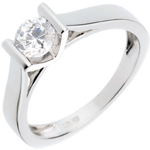women Solitaire elegance white gold - 0.52 carat