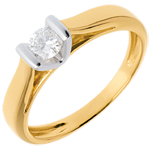 gifts women Solitaire elegance white gold-yellow gold - 0.25 carat