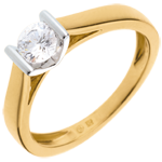 Solitaire elegance yellow gold - 0.41 carat