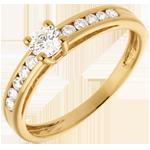 cadeau femmes Solitaire Embellie or jaune 18 carats - diamant 0.22 carat