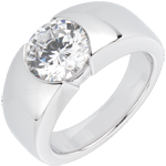 Solitaire Era or blanc 18 carats