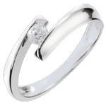 gifts women Solitaire Love Nest - Orphée - white gold - 18 carats