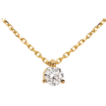 Solitaire necklace yellow gold - 0.205 carat