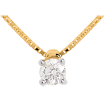 gift Solitaire necklace yellow gold - 0.26 carat