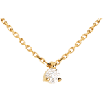 buy on line Solitaire necklace yellow gold
