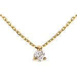 gifts women Solitaire necklace yellow gold