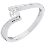 Solitaire Nid Précieux - Apostrophe - or blanc 18 carats - diamant 0.26 carat
