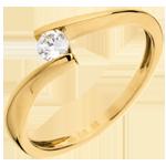 bijou Solitaire Nid Précieux - Apostrophe - or jaune - diamant 0.16 carat - 18 carats