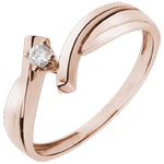 bijoux or Solitaire Nid Précieux - Jupiter - or rose - 0.05 carat - 18 carats