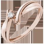 bijoux or Solitaire Nid Précieux - Jupiter - or rose 18 carats - 0.05 carat