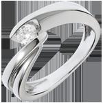 cadeaux Solitaire Nid Précieux - Ondine - or blanc - 1 diamant: 0.21 carat - 18 carats