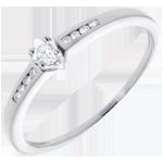 bijouteries Solitaire Octave or blanc - diamant 0.07 carat