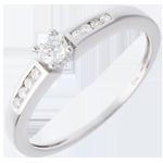 bijoux or Solitaire Octave or blanc - diamant 0.13 carat