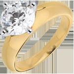 mariage Solitaire or jaune 18 carats Daphnée