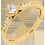 vente Solitaire or jaune Altesse - diamant 0.20 carat - 9 carats