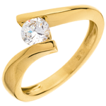 sell on line Solitaire Precious Nest - Apostrophe - very big size - yellow gold - 0.52 carat - 18 carats