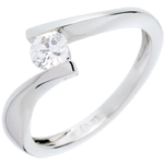on line sell Solitaire Precious Nest - Apostrophe - white gold - 0.31 carat - 18 carats
