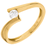 Solitaire Precious Nest - Apostrophe - yellow gold - 0.2 carat diamond - 18 carats