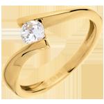 Solitaire Precious Nest - Apostrophe - yellow gold - 0.31 carats . 18 carats