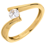 weddings Solitaire Precious Nest - Apostrophe - yellow gold - 0.31 carats . 18 carats