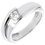 Solitaire Precious Nest - Bipolar - white gold (Very big model) - 0.31 carat - 18 carats