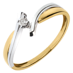 gifts Solitaire Precious Nest - Jupiter - yellow and white gold - 0.05 carat - 18 carat