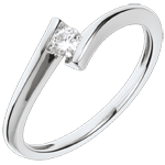 wedding Solitaire Precious Nest - Lunar Eclipse - 18 carats