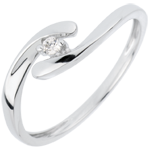 gift women Solitaire Precious Nest - My Dear - white gold - 18 carats