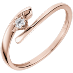 buy Solitaire Precious Nest - Orion - pink gold - 18 carats