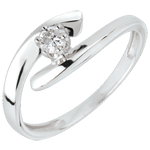 wedding Solitaire Precious Nest - Orion - white gold - 18 carats
