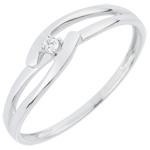 on line sell Solitaire Precious Nest Ring - White Union - white gold - 18 carats