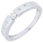gifts woman Solitaire Ring Désirée - White gold