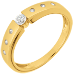 buy Solitaire Ring Désirée - Yellow gold
