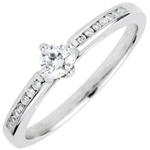on-line buy Solitaire Ring Divine 4 prongs
