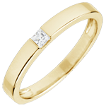Solitaire Ring Drawing - Princess cut diamond