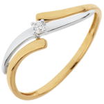 Solitaire Ring - Evasion- 0.04 carat diamond